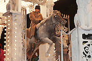 Overthrow of the Tsar, the winning entry in the Open Tableau Class, from Pentathlon Carnival Club at the 2011 Bridgwater Guy Fawkes Carnival. Bridgwater Carnival is an annual event to raise money for local charities. It is widely reputed to be the largest illuminated carnival in the world.