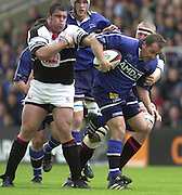 24/05/2002.Sport - Rugby Union - Parker Pen Shield Final..Sale hooker Charl Marais, on the run. .   [Mandatory Credit, Peter Spurier/ Intersport Images].