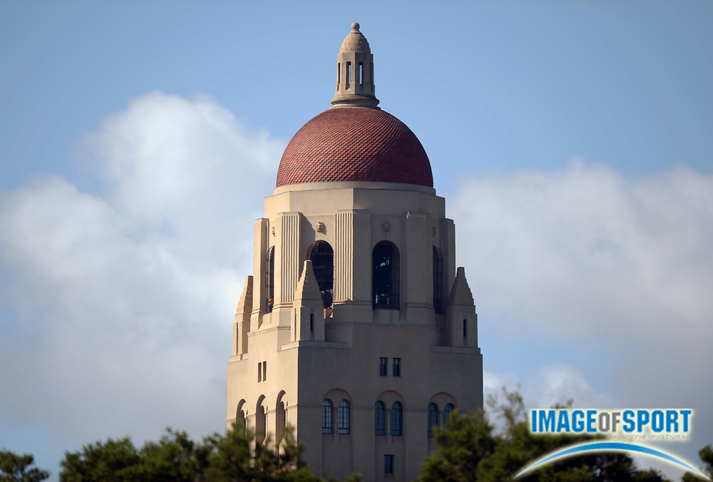 Apr 5, 2014; Stanford, CA, USA; General view of Hoover Tower on the Stanford University campus.