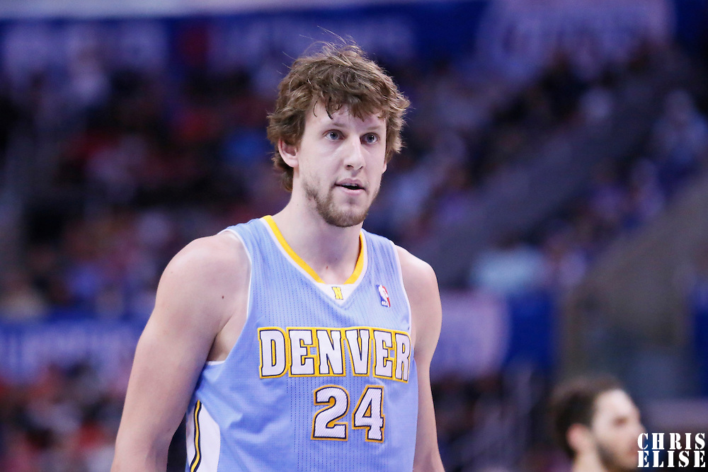 15 April 2014: Denver Nuggets forward Jan Vesely (24) is seen during the Los Angeles Clippers 117-105 victory over the Denver Nuggets at the Staples Center, Los Angeles, California, USA.