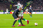 Big penalty shout for Celtic denied as Victor Nelsson of FC Copenhagen takes out Odsonne Edouard of Celtic FC during the Europa League match between Celtic and FC Copenhagen at Celtic Park, Glasgow, Scotland on 27 February 2020.