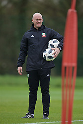 NEWPORT, WALES - Thursday, March 21, 2019: Wales' Under-21 manager Robert Page during an Under-21 training session at Dragon Park. (Pic by David Rawcliffe/Propaganda)
