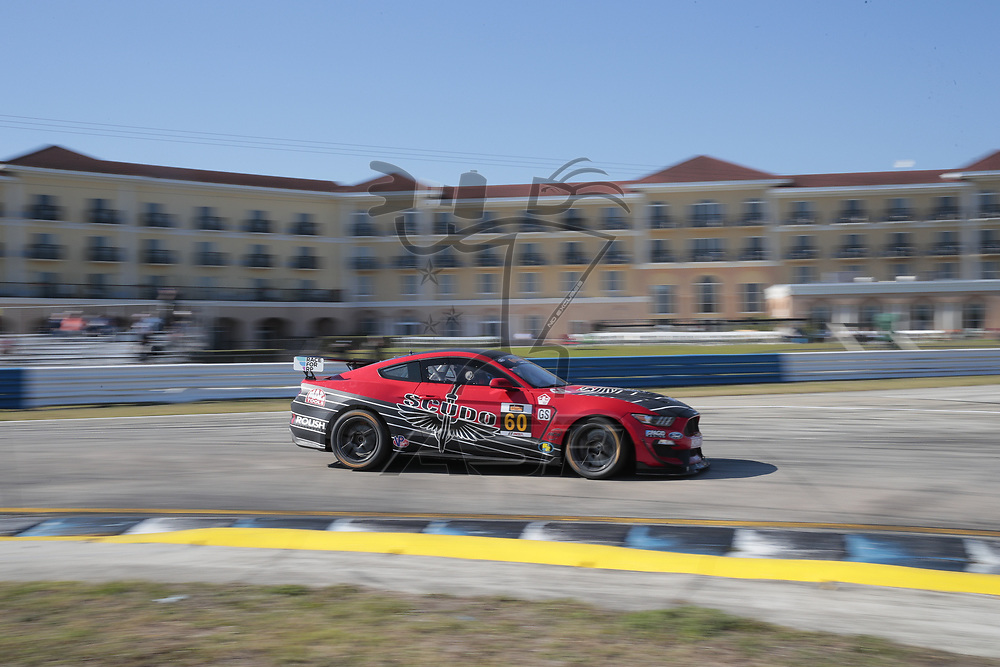 March 15, 2018 - Sebring, Florida, USA:  The Roush Performance/KohR Motorsports Ford Mustang races through the turns at the Alan Jay Automotive Network 120 at Sebring International Raceway in Sebring, Florida.