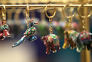 Hand carved and painted animal keychains at Miracle Boutique in Lindale Mall in Cedar Rapids on Saturday, December 14, 2013.