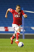 Bristol City midfielder Elliott Bennett (13) on the ball during the Sky Bet Championship match between Brighton and Hove Albion and Bristol City at the American Express Community Stadium, Brighton and Hove, England on 20 October 2015. Photo by Phil Duncan.