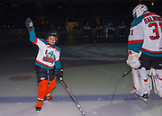 KELOWNA, CANADA - SEPTEMBER 29:  Pepsi Player of the game with Brodan Salmond #31 of the Kelowna Rockets at the Kelowna Rockets game on September 29, 2017 at Prospera Place in Kelowna, British Columbia, Canada.  (Photo By Cindy Rogers/Nyasa Photography,  *** Local Caption ***
