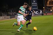 31st October 2018, Kilmac Stadium, Dundee, Scotland; Ladbrokes Premiership football, Dundee v Celtic; Kieran Tierney of Celtic and Cammy Kerr of Dundee