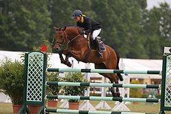 Krause, Mascha, Caravaggio<br /> Elmshorn - Holsteiner Pferdetage<br /> Spezialspringpferdeprüfung Kl. M Finale 6j.<br /> © www.sportfotos-lafrentz.de/ Stefan Lafrentz