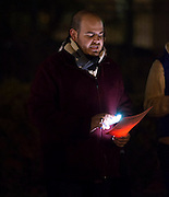 Organization ALLY and students of Ohio University gathered at Howard Hall site for national Transgender Day of Remembrance on Novemeber 20th, 2013. Attendees joined together, lit candles, and read the names of those whom had fallen victim to violence, abuse, and death. Photo by Royle Mast.