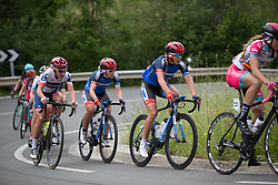 Clara Koppenburg (GER) of Cervélo-Bigla Cycling Team, Hayley Simmonds (GBR) and Elise Maes (LUX) of Team WNT ride mid-pack during Stage 3 of the Emakumeen Bira - a 77.6 km road race, starting and finishing in Antzuola on May 19, 2017, in Basque Country, Spain. (Photo by Balint Hamvas/Velofocus)