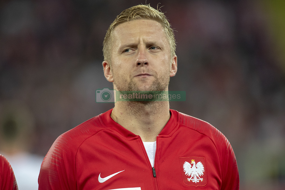 October 14, 2018 - Chorzow, Poland - Kamil Glik of Poland during the UEFA Nations League A match between Poland and Italy at Silesian Stadium in Chorzow, Poland on October 14, 2018  (Credit Image: © Andrew Surma/NurPhoto via ZUMA Press)