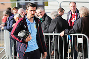 Joey Barton of Burnley arriving before the Sky Bet Championship match between Burnley and Middlesbrough at Turf Moor, Burnley, England on 19 April 2016. Photo by Simon Brady.