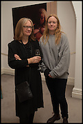GABBY HIGGS; ANNE COLLIER, Frieze dinner  hosted at by Valeria Napoleone for  Marvin Gaye Chetwynd, Anne Collier and Studio Voltaire 20th anniversary autumn programme. Kensington. London. 14 October 2014.