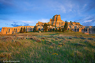 Capitol Rock in the Custer National Forest, Montana, USA