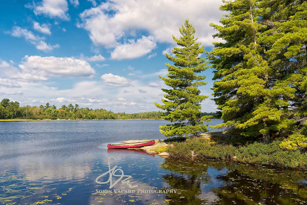 Canoe on Gurd Lake, Ontario