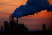 Oil refinery and power plant near Newark.