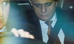 © Licensed to London News Pictures. 27/03/2019. London, UK.  Hoe Secretary SAJID JAVID is seen arriving at the Houses of Parliament in London. MPs will hold a series of indicative votes on different Brexit options this evening. Photo credit: Ben Cawthra/LNP