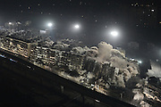 WUHAN, CHINA - JANUARY 21: <br /> <br /> 19 Buildings Blasted In 10 Seconds In china<br /> <br /> 19 buildings are blasted at once at Hankou Binjiang international business district on January 21, 2017 in Wuhan, Hubei Province of China. 19 buildings with over 120 thousand muzzles have been blasted at once in 10 seconds on Saturday night in Wuhan. <br /> ©Exclusivepix Media