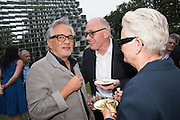 ANISH KAPOOR; RICHARD WENTWORTH; JANE WENTWORTH, 2016 SERPENTINE SUMMER FUNDRAISER PARTY CO-HOSTED BY TOMMY HILFIGER. Serpentine Pavilion, Designed by Bjarke Ingels (BIG), Kensington Gardens. London. 6 July 2016