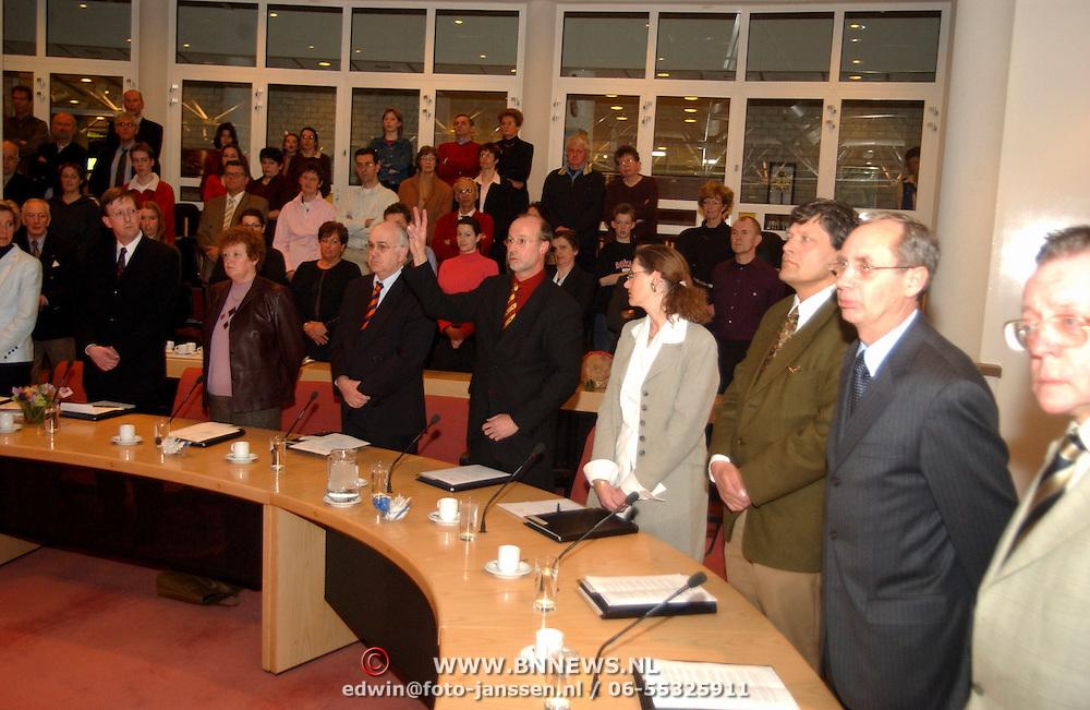 Installatie nieuwe raadsleden gemeente Huizen,