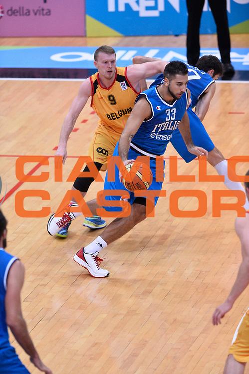 DESCRIZIONE : Trento Nazionale Italia Uomini Trentino Basket Cup Italia Belgio Italy Belgium<br /> GIOCATORE : Pietro Aradori<br /> CATEGORIA : palleggio<br /> SQUADRA : Italia Italy<br /> EVENTO : Trentino Basket Cup<br /> GARA : Italia Belgio Italy Belgium<br /> DATA : 12/07/2014<br /> SPORT : Pallacanestro<br /> AUTORE : Agenzia Ciamillo-Castoria/GiulioCiamillo<br /> Galleria : FIP Nazionali 2014<br /> Fotonotizia : Trento Nazionale Italia Uomini Trentino Basket Cup Italia Belgio Italy Belgium