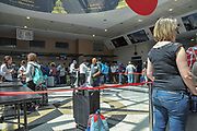 Security and Check in Batumi international airport, Georgia