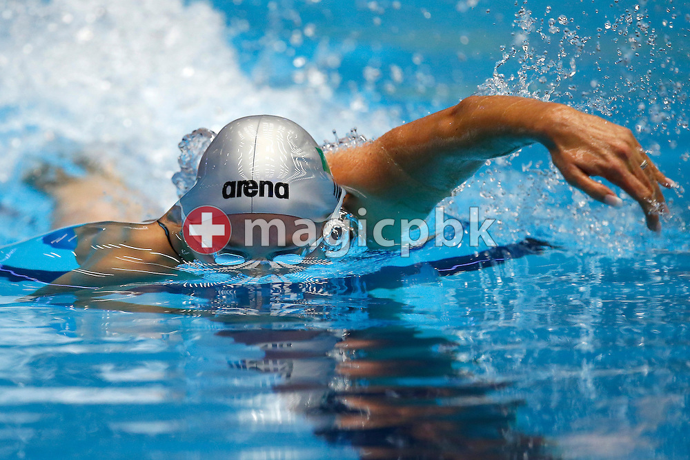 Federica PELLEGRINI of Italy competes in the women's 400m Freestyle Heats during the 17th European Short Course Swimming Championships held at the Jyske Bank BOXEN in Herning, Denmark, Saturday, Dec. 14, 2013. (Photo by Patrick B. Kraemer / MAGICPBK)