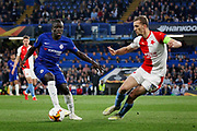 Chelsea FC midfielder N'golo Kante (7) during the Europa League quarter-final, leg 2 of 2 match between Chelsea and Slavia Prague at Stamford Bridge, London, England on 18 April 2019.