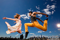 New York City Rooftop Dance As Art Photography Project with dancers Ashley Whitson and Jarrett Rashad