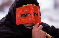 Iran, Masque traditionnel dans la region du Golfe persique// Traditional mask, Persian Gulf area, Iran