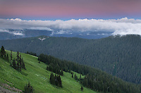 Alpenglow over Skyline Divide, Mount Baker Wilderness North Cascades Washington