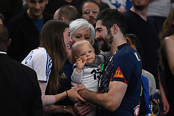 Karabatic Nikola and his family after 25th IHF men's world championship 2017 match between France and Slovenia at Accord hotel Arena on january 26 2017 in Paris. France. PHOTO: CHRISTOPHE SAIDI / SIPA / Sportida