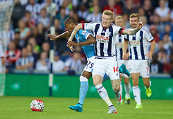 WEST BROMWICH, ENGLAND - Monday, August 10, 2015: Manchester City's Fernando Luiz Roza 'Fernandinho' in action against West Bromwich Albion's James McClean during the Premier League match at the Hawthorns. (Pic by David Rawcliffe/Propaganda)