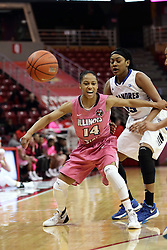 05 February 2016: Lexie Taylor(14) and Kelsey Dirks. Illinois State University Women's Redbird Basketball team hosted the Sycamores of Indiana State for a Play4 Kay game at Redbird Arena in Normal Illinois.