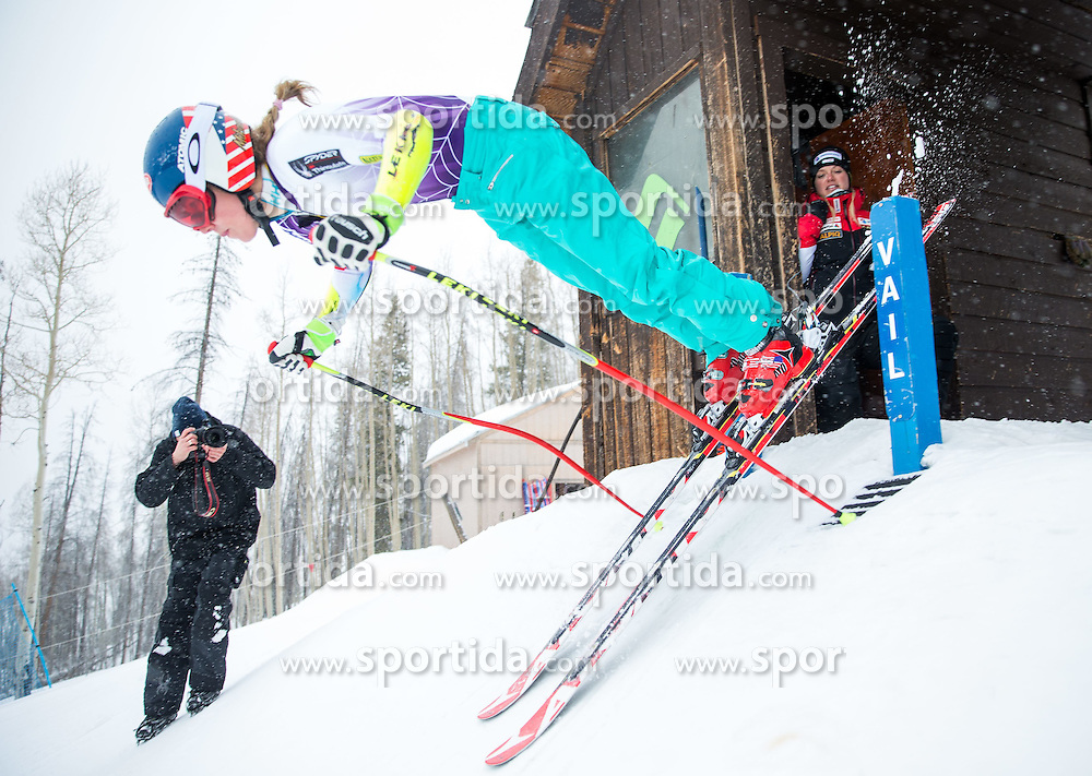 30.01.2015, Golden Peak Strecke, Vail, USA, FIS Weltmeisterschaften Ski Alpin, Training, im Bild Mikaela Shiffrin (USA) // Mikaela Shiffrin of the USA in Action during a practice run for the FIS Ski World Championships 2015 at the Golden Peak Course, Vail, United States on 2015/01/30. EXPA Pictures © 2015, PhotoCredit: EXPA/ Johann Groder
