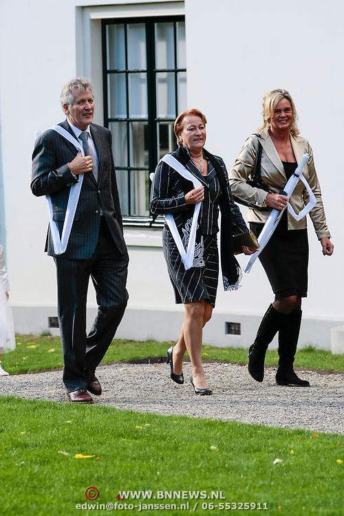 NLD/Staverden/20121004- Huwelijk schaatsster Marianne Timmer met voetbalkeeper Henk Timmer, Dirk Scheringa