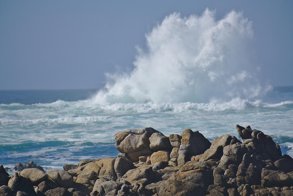 20 foot fall swell off Asilomar on the Monterey Peninsula.