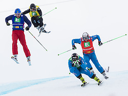 25.01.2014, Kreischberg, St. Georgen, AUT, FIS Weltcup Ski Cross, im Bild v.l. Joe Swensson (USA), Christian Mithassel (NOR), Patrick Koller (AUT), Christop. Wahrstoetter (AUT) // f.l. Joe Swensson of the USA, Christian Mithassel of Norway, Patrick Koller of Austria, Christop. Wahrstoetter of Austria during the FIS Ski Cross World Cup at the Kreischberg in St. Georgen, Austria on 2014/01/25. EXPA Pictures © 2014, PhotoCredit: EXPA/ Johann Groder