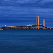 """Night on Mackinac Bridge"""
