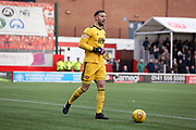 Hamilton Academical goalkeeper Gary Woods (1)  during the Ladbrokes Scottish Premiership match between Hamilton Academical FC and Celtic at New Douglas Park, Hamilton, Scotland on 24 November 2018. Pic Mick Atkins