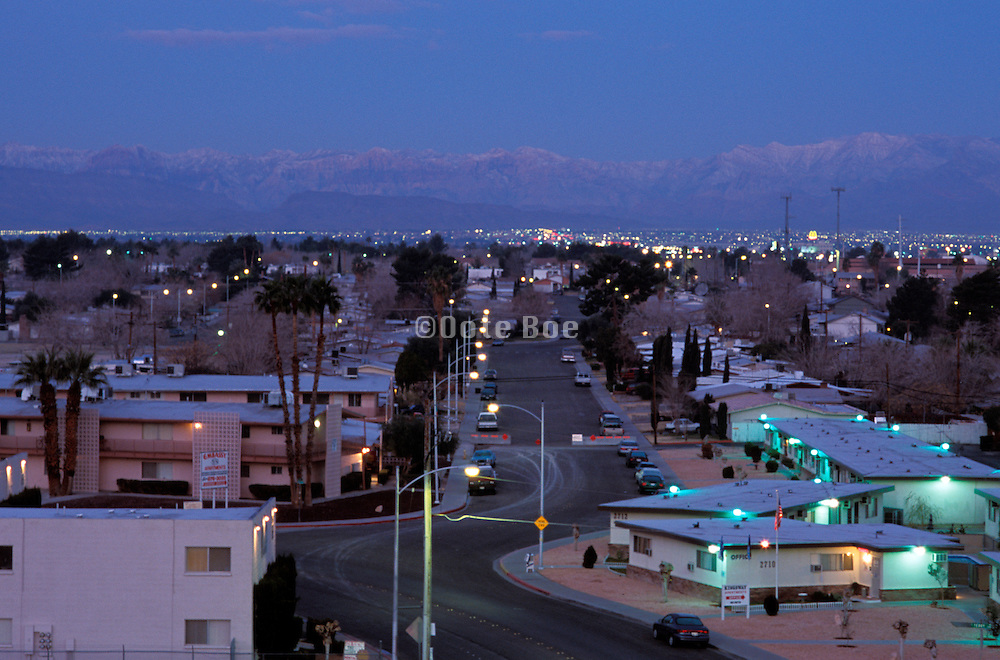 Early morning or early evening in a Las Vegas suburb