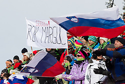 Supporters of Rok Marguc during FIS Snowboard World Cup Rogla 2013 in Parallel Giant slalom, on February 8, 2013 in Rogla, Slovenia. (Photo By Vid Ponikvar / Sportida.com)