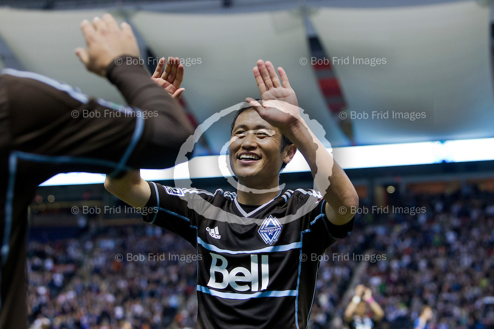 27 October 2013:  YP Lee retires from Professional soccer and Camilo wins the MLS Golden Boot for top scorer.  Action during a game between Vancouver Whitecaps FC and Colorado Rapids on Bell Pitch at BC Place Stadium in Vancouver, BC, Canada. Final Score: Vancouver 3  - Colorado 0  ****(Photo by Bob Frid - Vancouver Whitecaps 2013 - All Rights Reserved)***