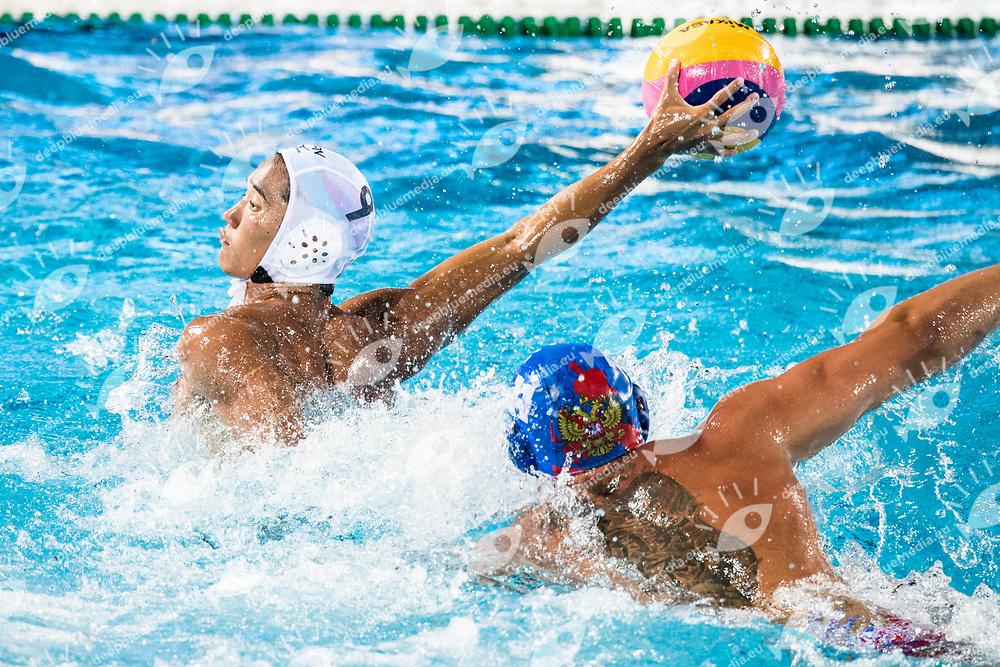 9 ARAI Atsushi JPN <br /> USA (white cap) -  CRO (blue cap)<br /> Preliminary Round Water Polo Men<br /> Day04  17/07/2017 <br /> XVII FINA World Championships Aquatics<br /> Alfred Hajos Complex Margaret Island  <br /> Budapest Hungary <br /> Photo @ Deepbluemedia/Insidefoto