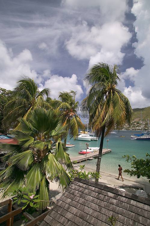 View from the balcony of The Frangipani Hotel, Bequia 4/05