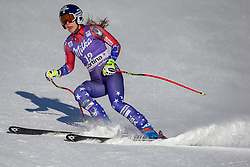 20.01.2018, Olympia delle Tofane, Cortina d Ampezzo, ITA, FIS Weltcup Ski Alpin, Abfahrt, Damen, im Bild Laurenne Ross (USA) // Laurenne Ross of the USA reacts after ladie' s downhill of the Cortina FIS Ski Alpine World Cup at the Olympia delle Tofane course in Cortina d Ampezzo, Italy on 2018/01/20. EXPA Pictures © 2018, PhotoCredit: EXPA/ Dominik Angerer