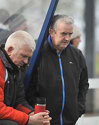 Straide &amp; Foxford United's manager Aidan Flatley and his assistant.<br /> Pic Conor McKeown