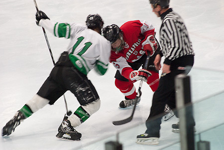 East vs. West in Minneapolis High School Hockey.