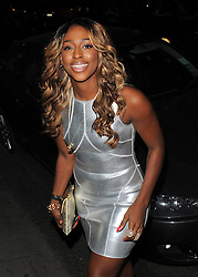 Singer Alexandra Burke at the Novikov restaurant in Mayfair, London, UK. 23/08/2012<br />BYLINE MUST READ : GOTCHAIMAGES.COM<br /><br />Copyright by © Gotcha Images Ltd. All rights reserved.<br />Usage of this image is conditional upon the acceptance <br />of Gotcha Images Ltd, terms and conditions available at<br />www.gotchaimages.com