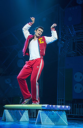 © Licensed to London News Pictures. 11/10/2012. London, England. Pictured: Stewart Clark as Eddie. LOSERVILLE, a new original British musical created by Elliot Davis and James Bourne, is set in 1971 in an American High School and features Aaron Sidwell (EastEnders), Eliza Hope Bennett (Nanny McPhee), Stewart Clarke, Charlotte Harwood (Hollyoaks), Richard Lowe, Lil' Chris (Rock School) and Daniel Buckley. Photo credit: Bettina Strenske/LNP